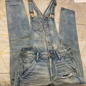 American Eagle Blue denim overalls